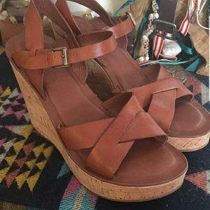Kork-Ease Leather Wedge